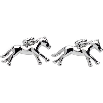 RACING HORSE & JOCKEY CUFFLINKS in Gift Box