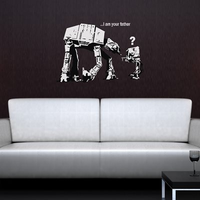 BANKSY WALL STICKER in 'I Am Your Father' design