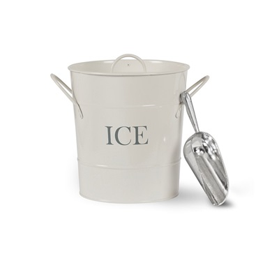 ICE BUCKET WITH SCOOP In Chalk by Garden Trading