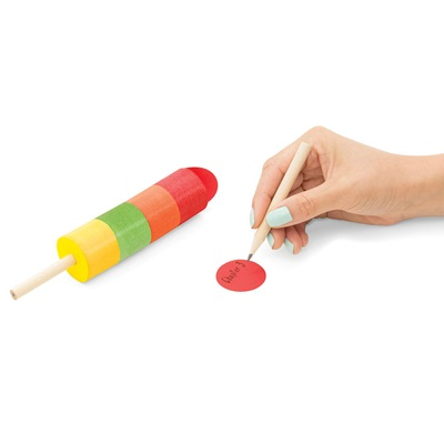 ICE LOLLY STICKY NOTES AND PENCIL