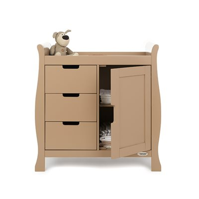 STAMFORD DRESSER & BABY CHANGING UNIT in Iced Coffee by Obaby