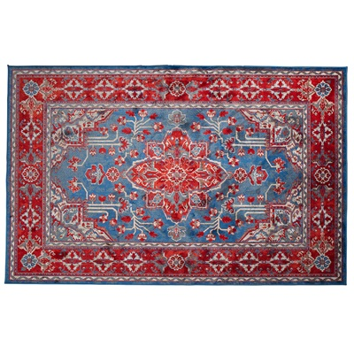 icon printed persian rug in red & blue - indoor rugs | cuckooland