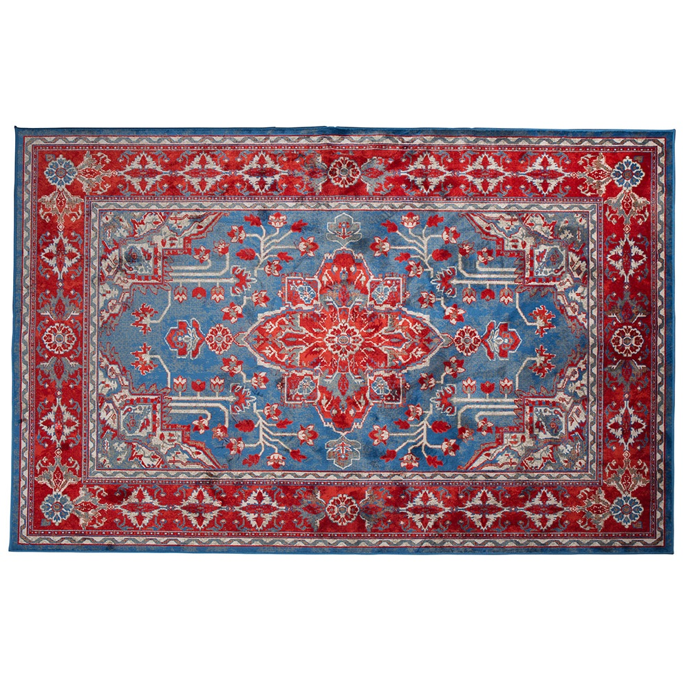 Dutchbone Icon Printed Persian Rug In Red Blue