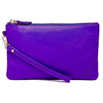 ICY PURPLE PHONE CHARGING LEATHER MIGHTY PURSE