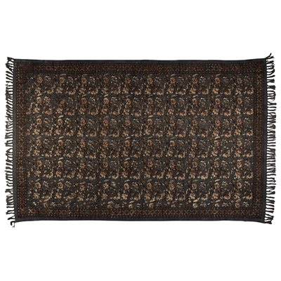 INDIAN BLOCK PRINTED RUG in Grey