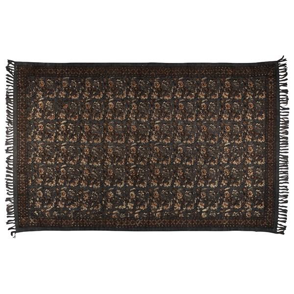 Dutchbone Indian Block Printed Rug in Grey