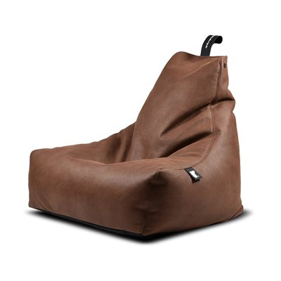 EXTREME LOUNGING MIGHTY B FAUX LEATHER BEAN BAG in Chestnut