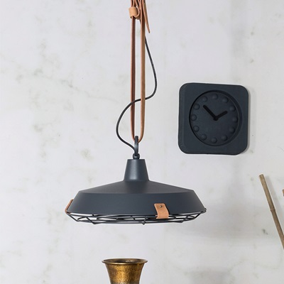 OFFICE STYLE CEILING LIGHT In Anthracite