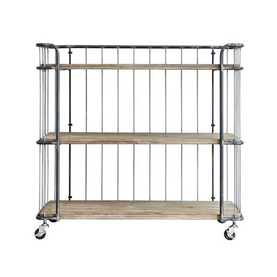 GIRO INDUSTRIAL TROLLEY STORAGE with 3 Shelves by Be Pure Home