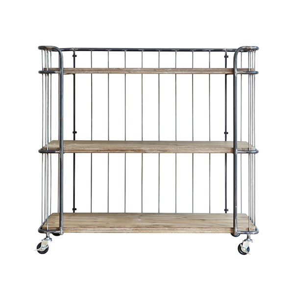 Unique Metal and Wood Storage Trolley