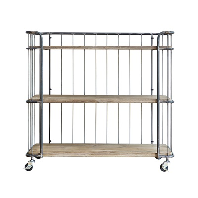 INDUSTRIAL TROLLEY STORAGE with 3 Shelves
