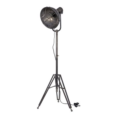 LARGE METAL TRIPOD FLOOR LAMP in Natural Finish