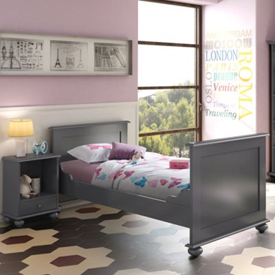 KIDS SINGLE BED in Ines Design
