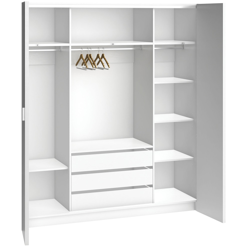 4you bi fold 4 door wardrobe with built in drawers in for 4 door wardrobe interior designs