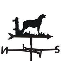 Product photograph showing Weathervane In Irish Wolfhound Design - Medium Cottage