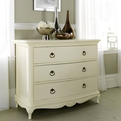 WILLIS & GAMBIER IVORY FRENCH INSPIRED 3 DRAWER CHEST