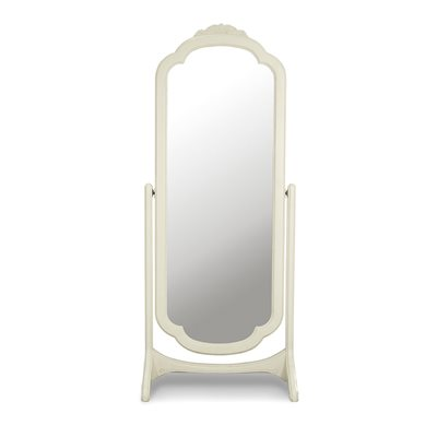 WILLIS & GAMBIER IVORY CHEVAL FULL LENGTH MIRROR