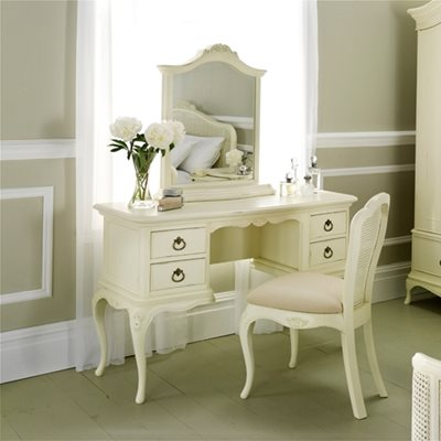WILLIS & GAMBIER IVORY VINTAGE STYLE DRESSING TABLE