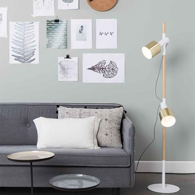 ZUIVER IVY SPOT LIGHT FLOOR LAMP in White