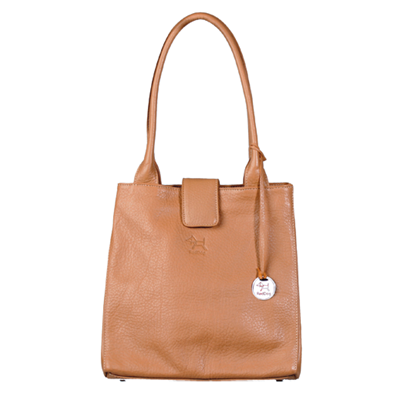 JACKIE Leather Handbag in Camel By RedDog Design Ltd