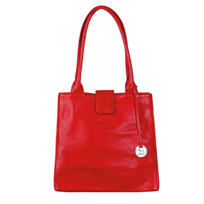 JACKIE Leather Handbag in Ruby Red By RedDog Design Ltd
