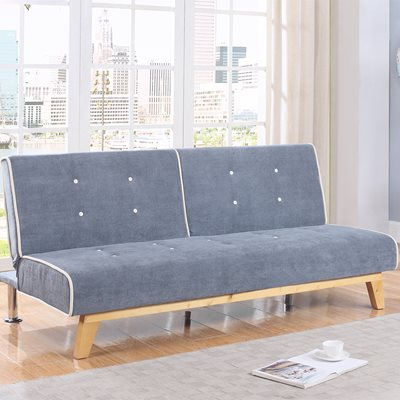 JACKSON UPHOLSTERED SOFA BED in Light Grey