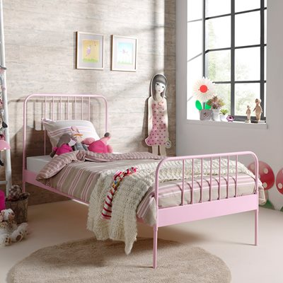 JACKY SINGLE METAL BED in Pink