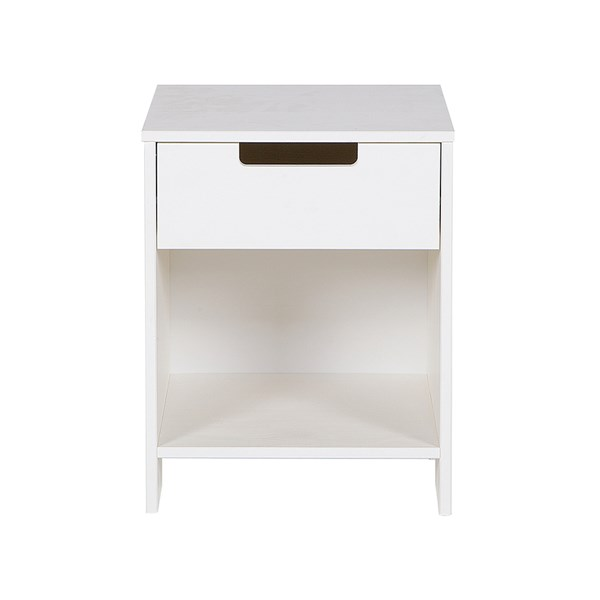 Jade Bedside Cabinet in White