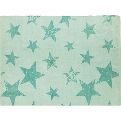 VINTAGE RUG AND CUSHION in Star Design