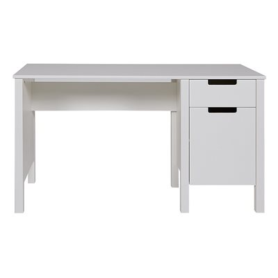 JADE COMPUTER & STUDY DESK in White