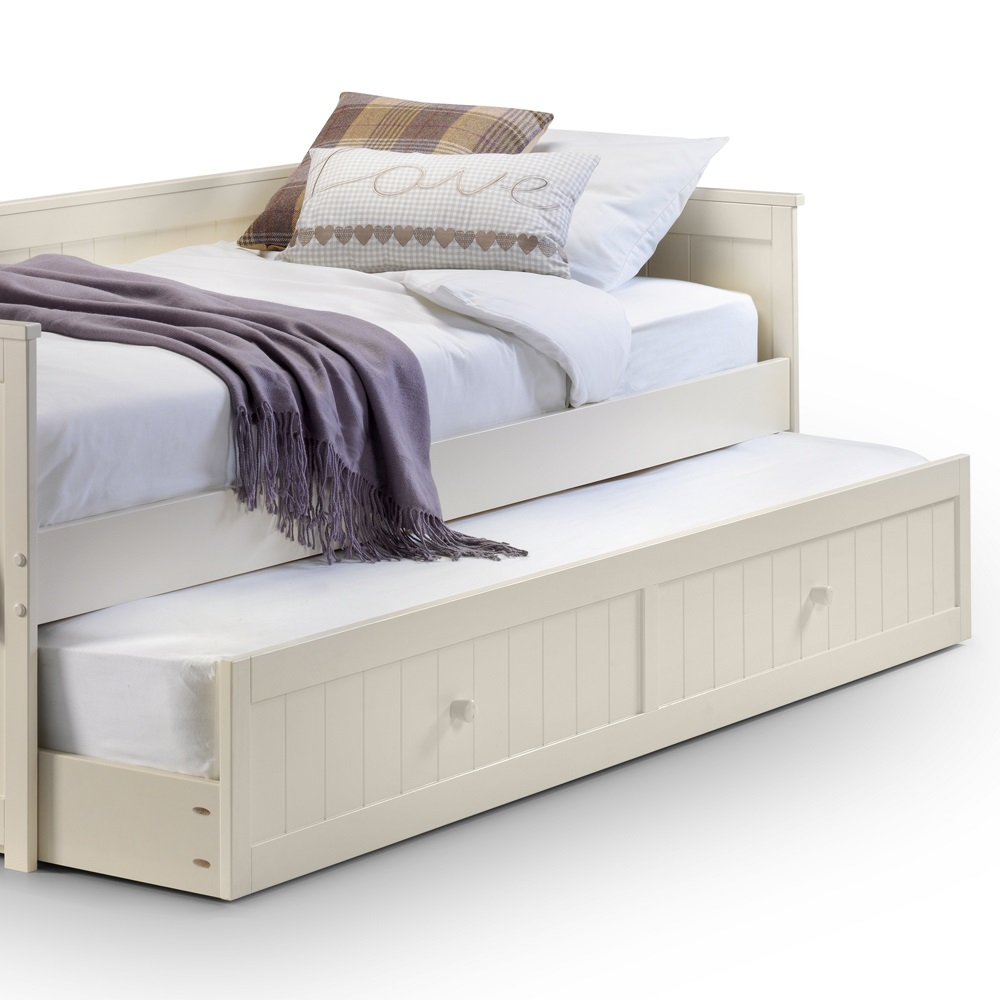 Kids Day Bed With Pull Out Trundle In White