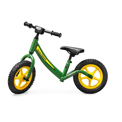 CHILDRENS JOHN DEERE WALK & RIDE ON BIKE