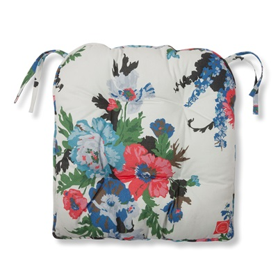 JOULES GARDEN SEAT CUSHION in Creme & Floral