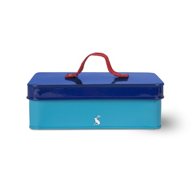 JOULES SMALL STORAGE BOX in Mosaic Blue