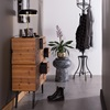 Black and White Plant Stand for Hallway