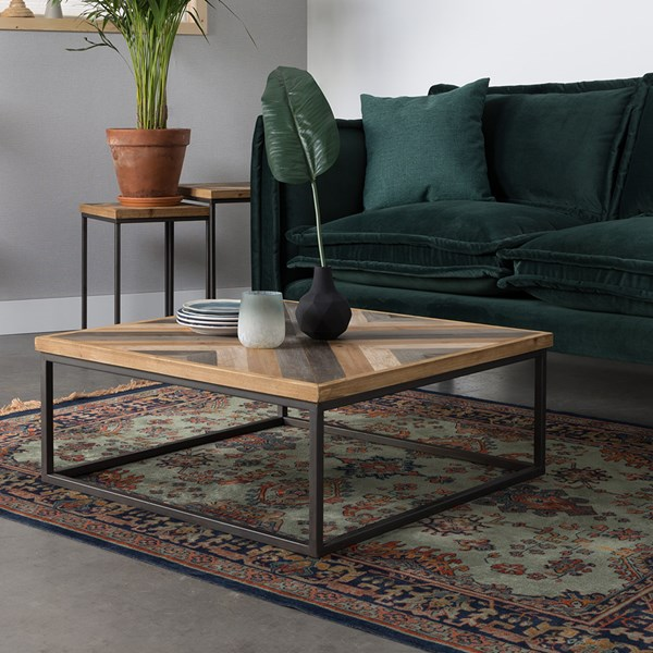 Joy Coffee Table in Herringbone Design