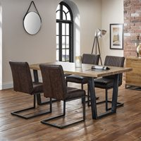 Julian Bowen Brooklyn Dining Set with Brooklyn Chairs - 4 Chairs