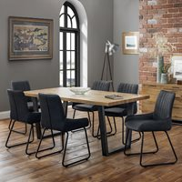 Julian Bowen Brooklyn Dining Set with Soho Chairs - 4 Chairs