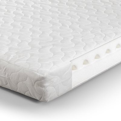 AIR WAVE FOAM COT BED MATTRESS 140 x 70 x 10 cm