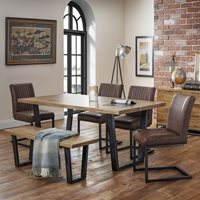 Julian Bowen Brooklyn Dining Set with 4 Chairs & Bench
