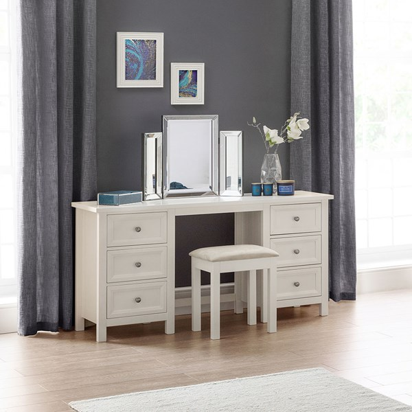 Maine Dressing Table in Surf White by Julian Bowen