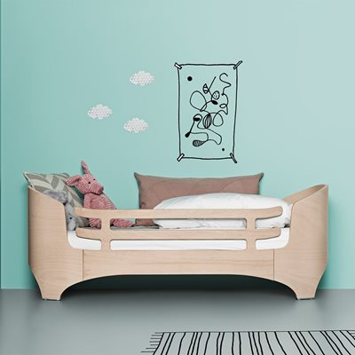 LEANDER Junior Bed & Mattress in Whitewash