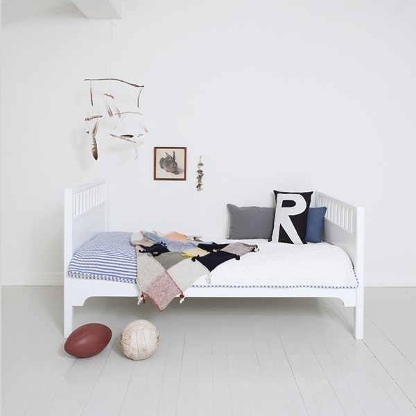 White Toddler Bed from Oliver Furniture