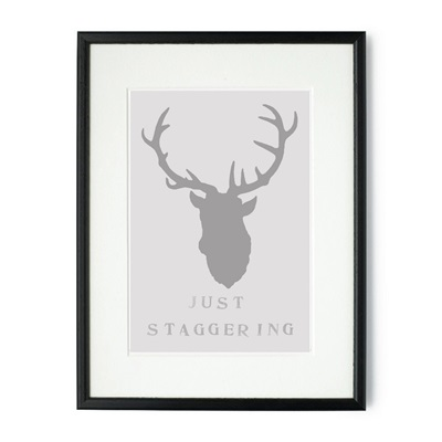 JUST STAGGERING FRAMED PRINT by Raw Xclusive