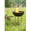 KADAI BARBECUE FIRE PIT ON STAND WITH GRILL by Garden Trading