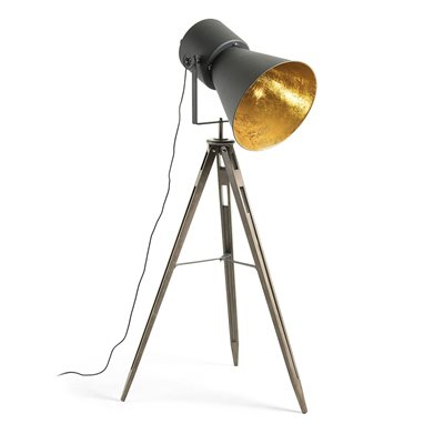 Kapeli Industrial Tripod Floor Lamp