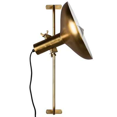DUTCHBONE KARISH BRASS PLATED WALL LIGHT with Adjustable Shade