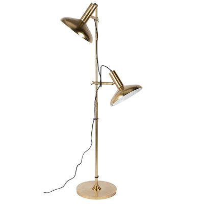 DUTCHBONE KARISH BRASS PLATED FLOOR LAMP with 2 Shades