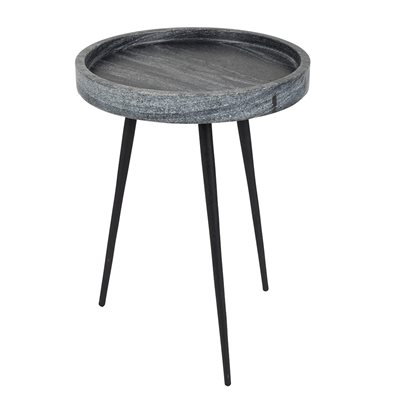 Zuiver Karrara Small Round Side Table in Grey