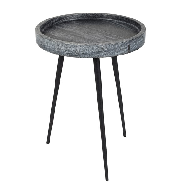 Stylish Small Round Occasional Table in Grey